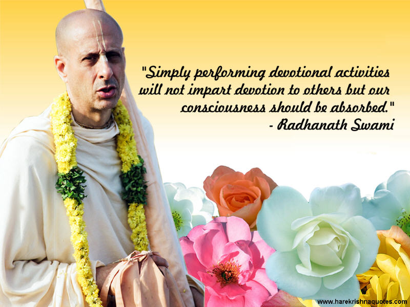 Radhanath Swami on Proper Consciousness