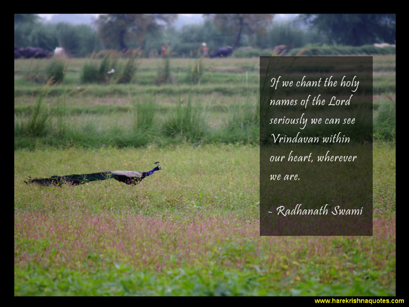 Radhanath Swami on Seeing Vrindavan Within Our Hearts