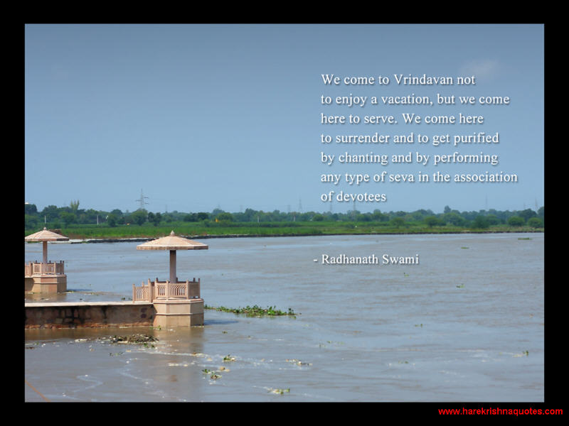 Radhanath Swami on Serving in Vrindavan