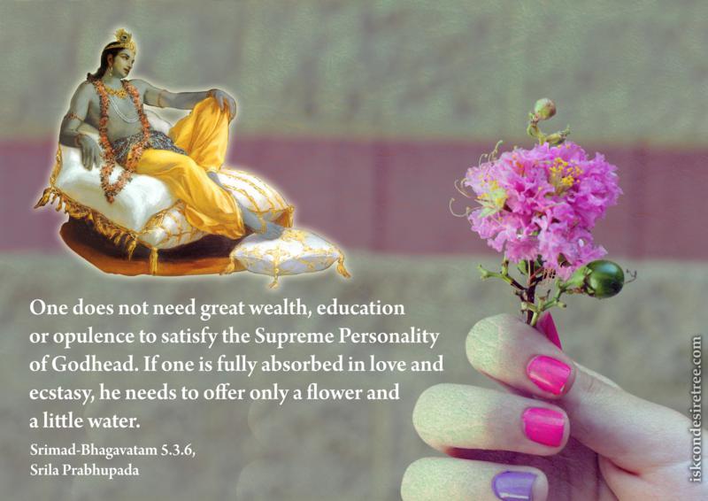 Srimad Bhagavatam on Satisfying the Supreme Personality of Godhead