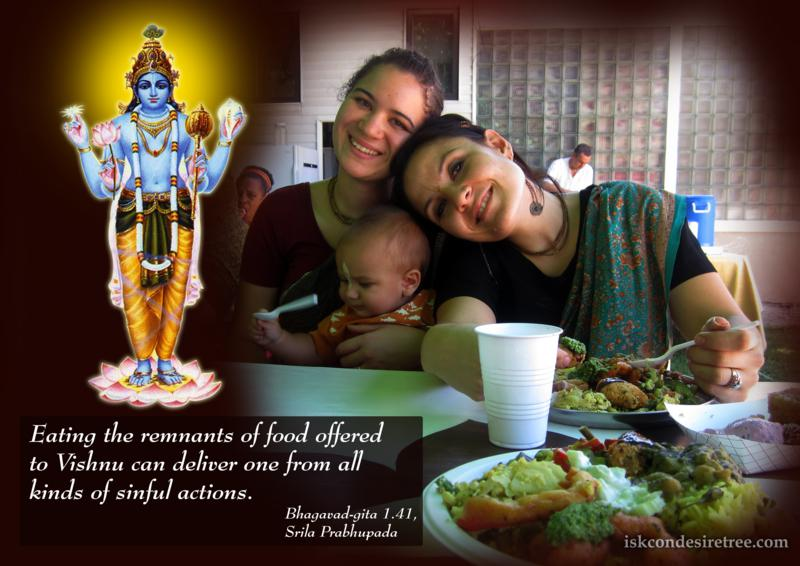 Bhagavad Gita on Effects of Eating Remnants of Food Offered to Vishnu