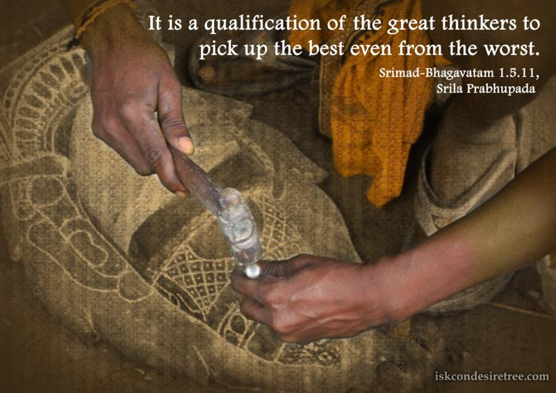 Srimad Bhagavatam on Qualification of The Great Thinkers