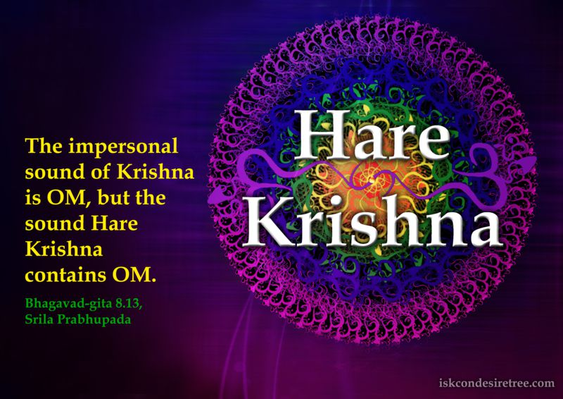Hare Krishna and OM | Spiritual Quotes By ISKCON Desire Tree