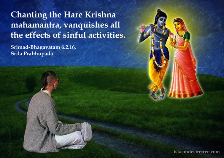 Quotes by Srimad Bhagavatam on Chanting The Hare Krishna Mahamantra