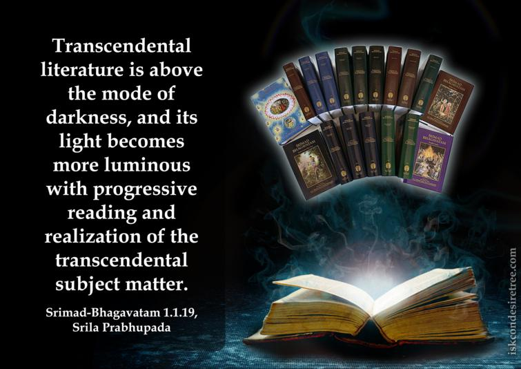 Quotes by Srimad Bhagavatam on Transcendental Literature
