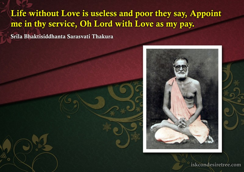 Bhaktisiddhanta Sarasvati Thakura on Love