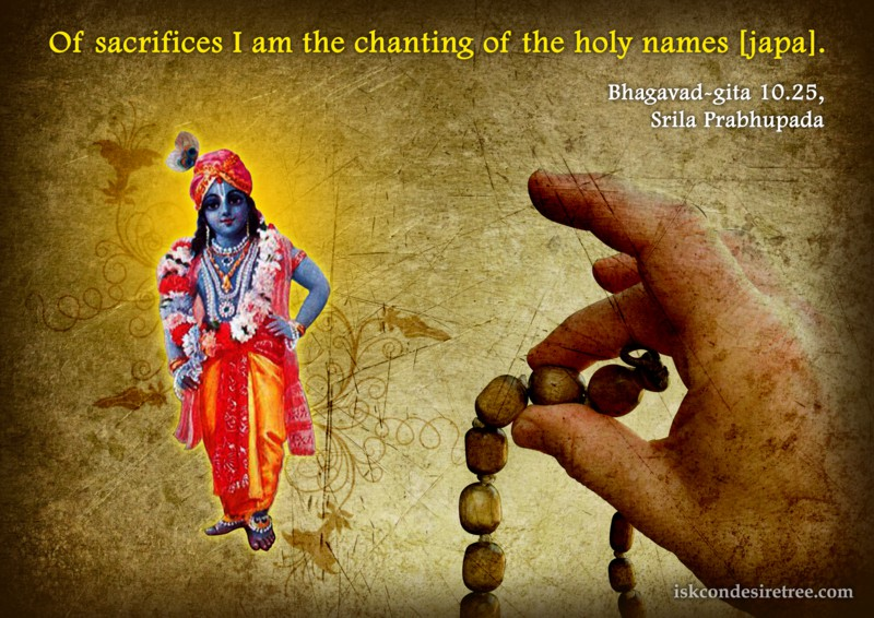 Lord Krishna on Krishna's Representation in Sacrifices