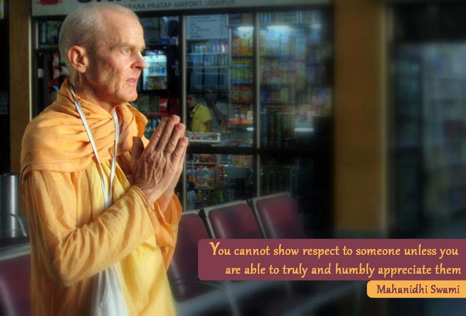 Mahanidhi Swami on Respect