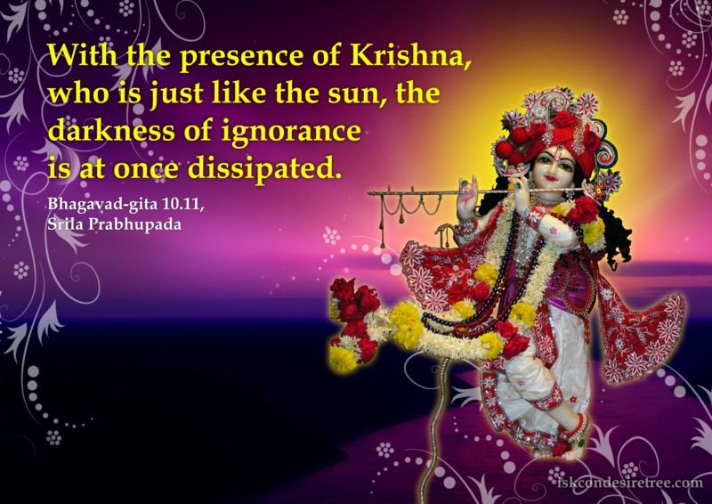 Srila Prabhupada on Effect of Presence of Krishna
