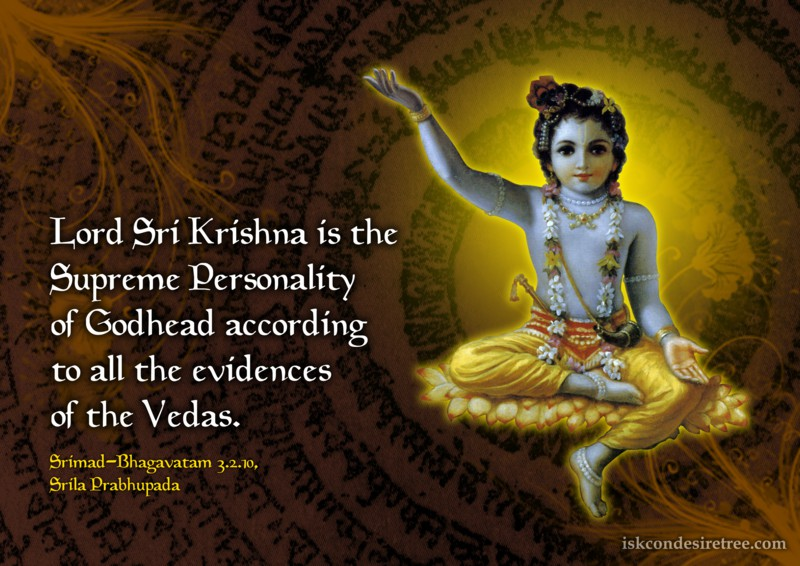 Lord Krishna Quotes New Acharyas  Spiritual Quotesiskcon Desire Tree  Part 47