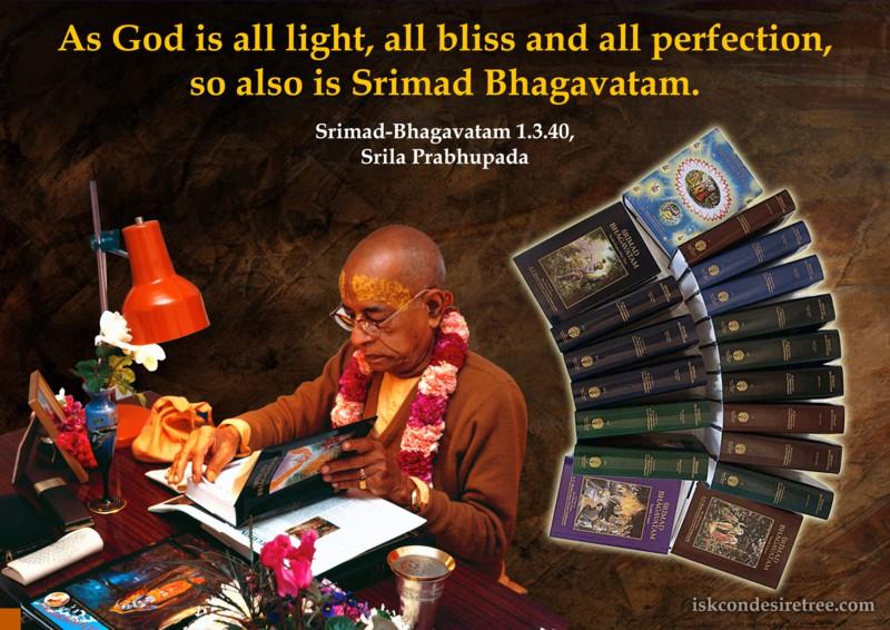Srila Prabhupada on Glory of Srimad Bhagavatam