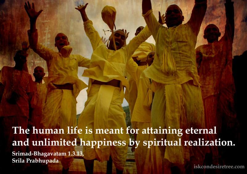 Srila Prabhupada on Goal of Human Life