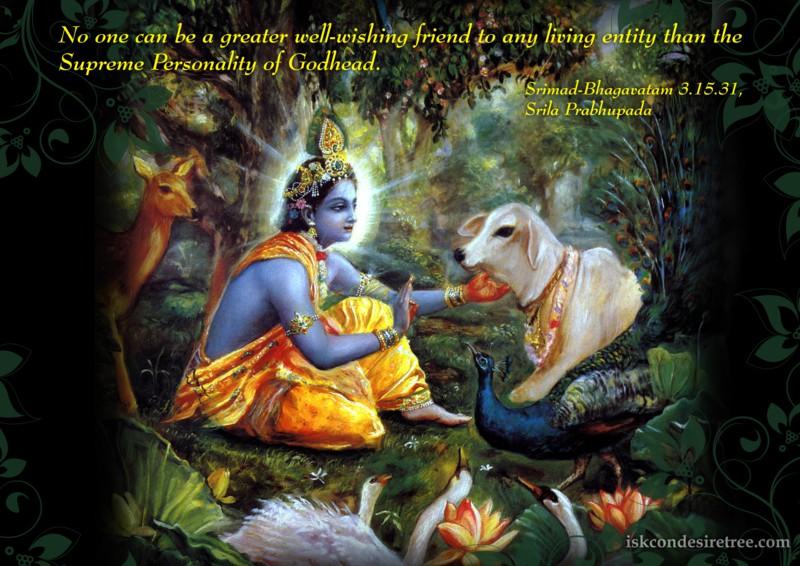 Srila Prabhupada on Greatest Friend of Any Living Entity