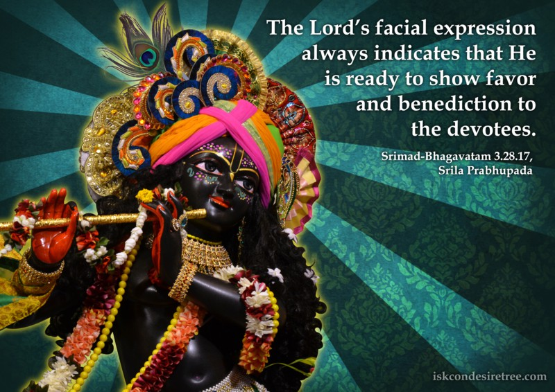 Srila Prabhupada on Lord's Facial Expression