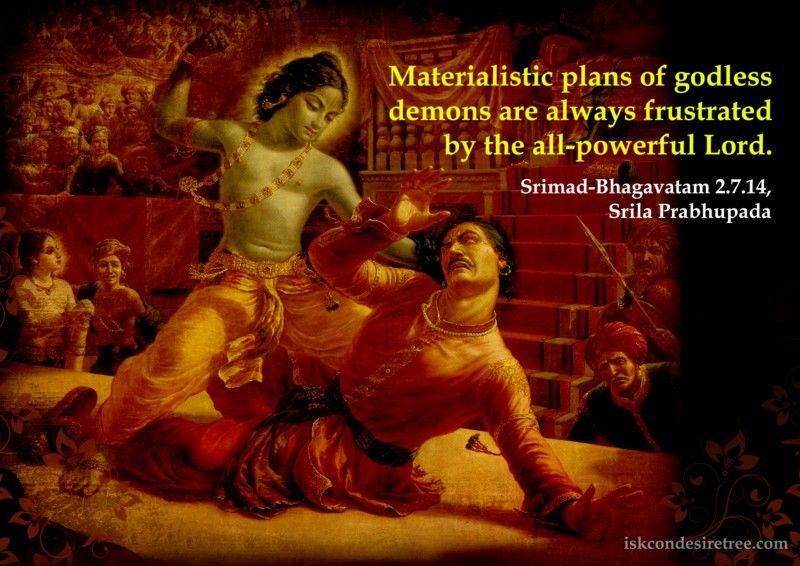 Srila Prabhupada on Materialistic Plans of Demons