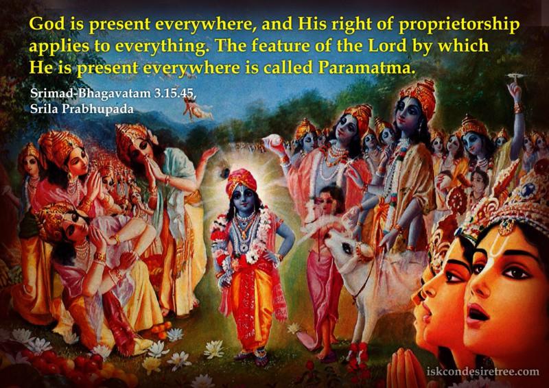 Srila Prabhupada on Paramatma