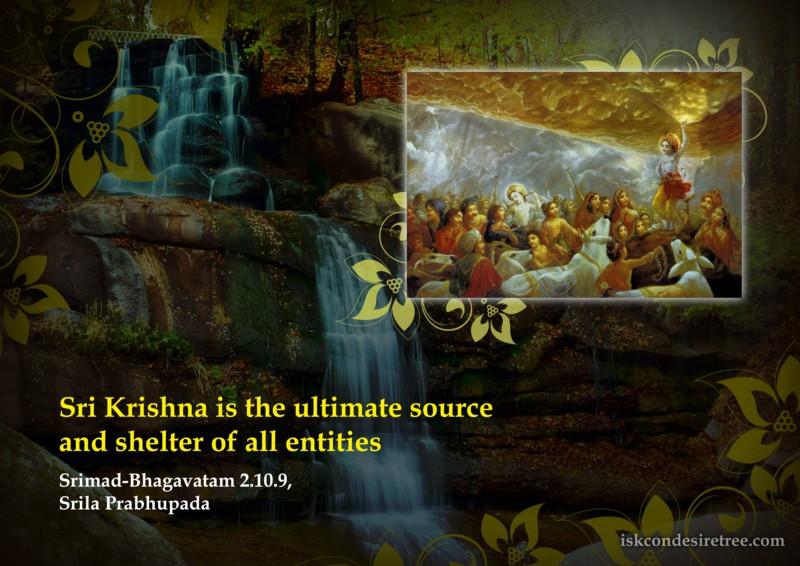 Srila Prabhupada on Ultimate Shelter of All Entities