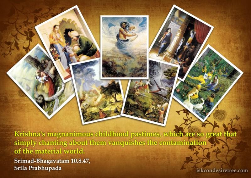 Srimad Bhagavatam on Krishna's Childhood Pastimes
