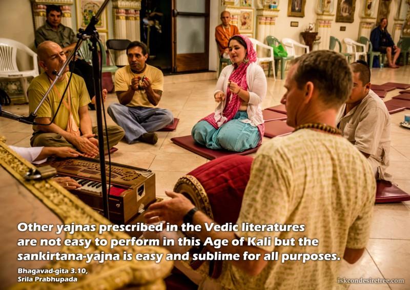 Bhagavad-gita on Sankirtana Yajna