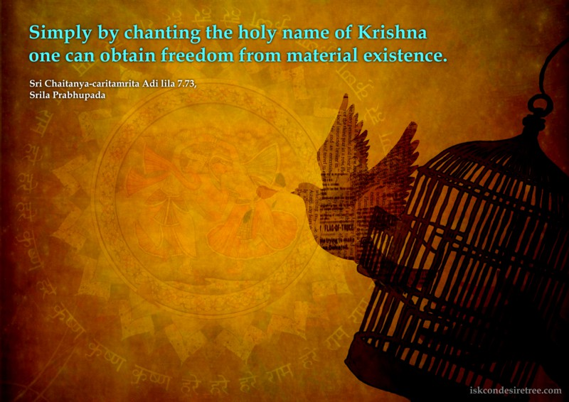 Chaitanya Caritamrta on Obtaining Freedom From Material Existence