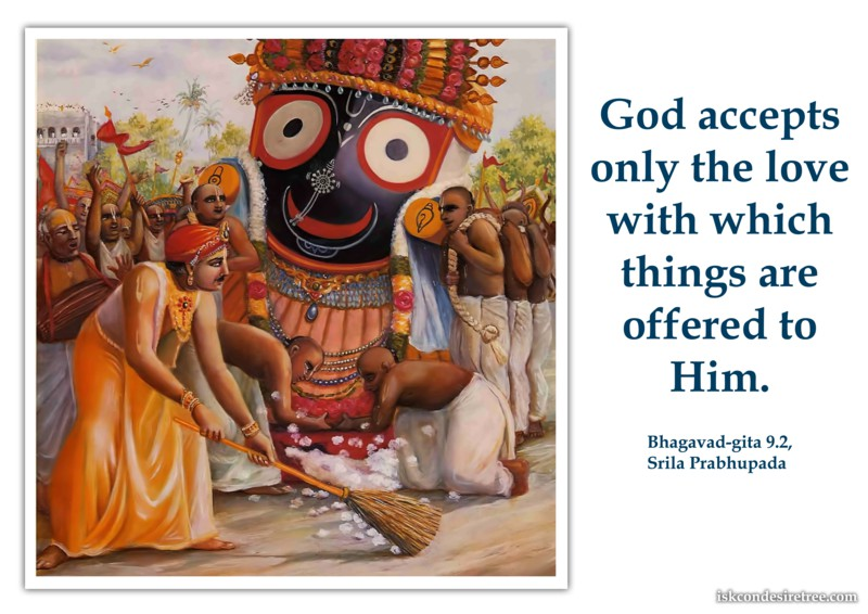 Srila Prabhupada on Acceptance of Offerings By The Lord