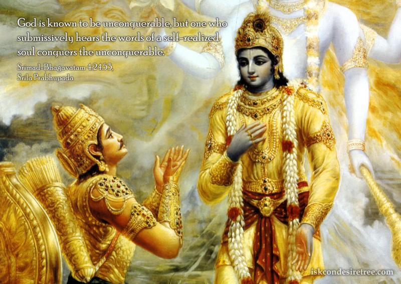 Srila Prabhupada on Conquering The Unconquerable