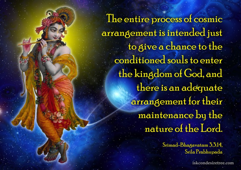 Srila Prabhupada on Entire Process of Cosmic Arrangement