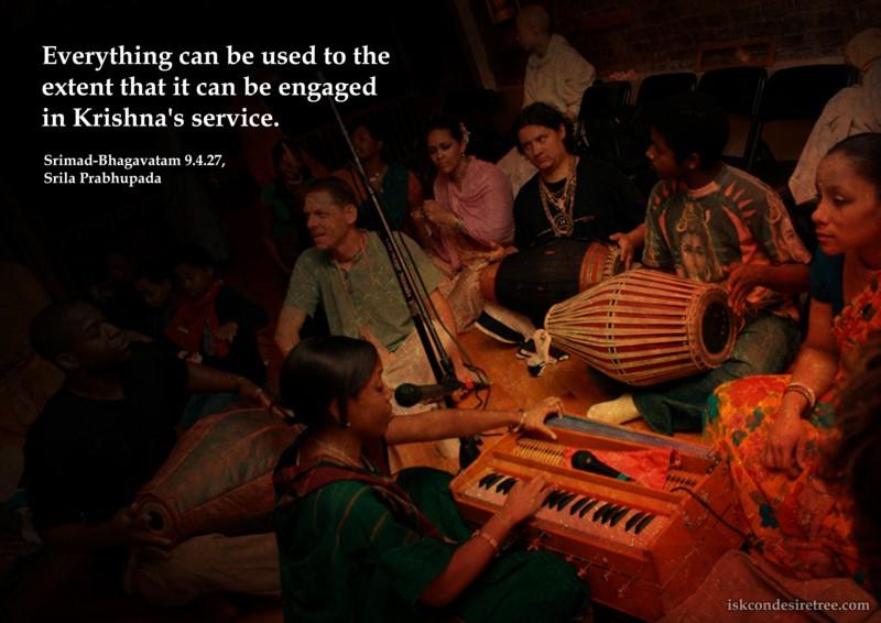 Srila Prabhupada on Everything Can Be Used