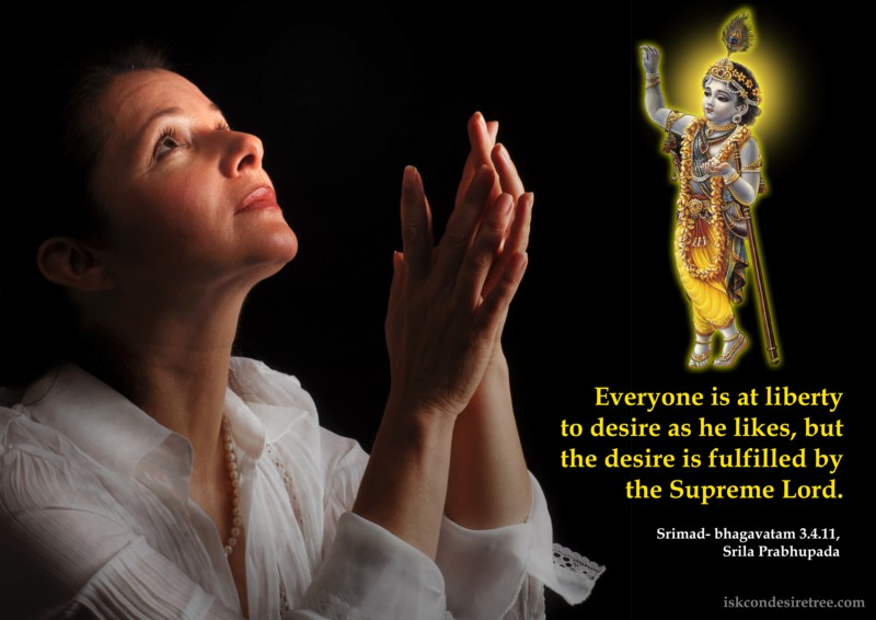 Srila Prabhupada on Fulfillment of Desires