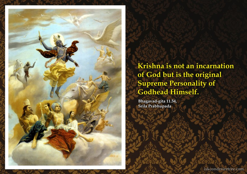 Srila Prabhupada on Original Supreme Personality of Godhead