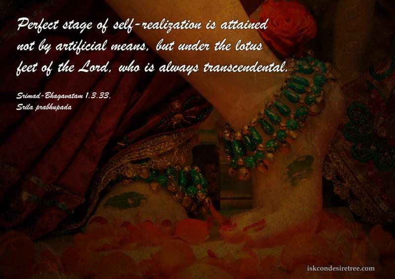 Srila Prabhupada on Perfect Stage of Self Realization