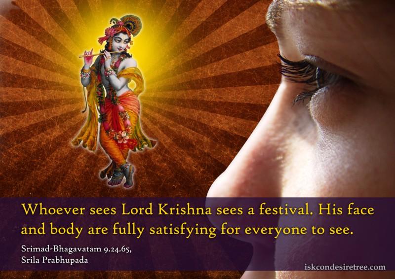 Srimad Bhagavatam on Seeing Krishna