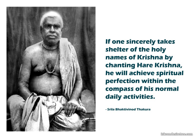Bhaktivinoda Thakur on Achieving Spiritual Perfection