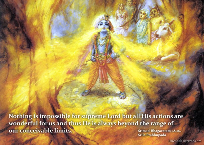 Srila Prabhupada on Actions of The Supreme Lord