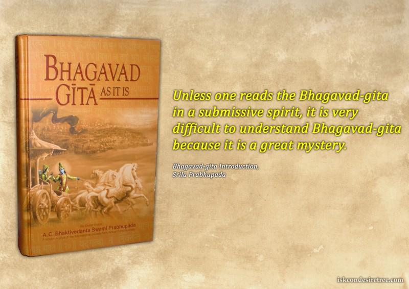 Srila Prabhupada on Bhagavad Gita - A Great Mystery