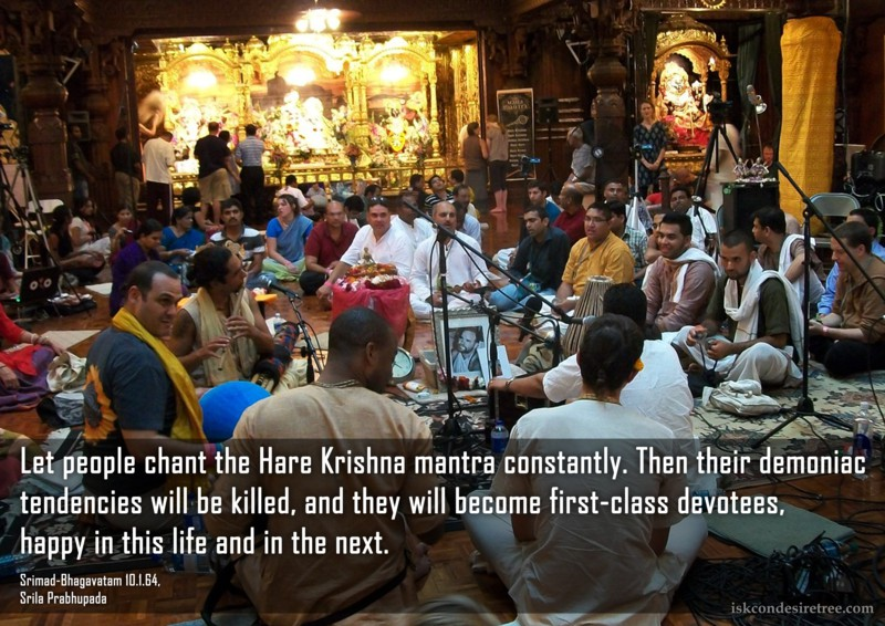 Srila Prabhupada on Effects of Chanting Constantly