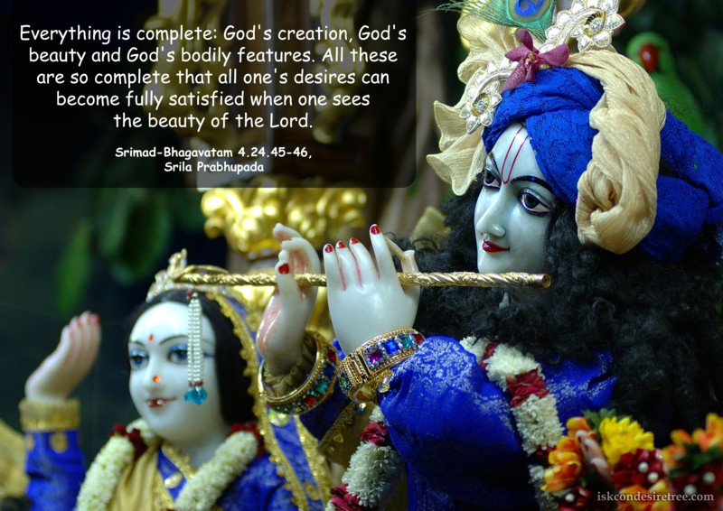 Srila Prabhupada on Everything is complete