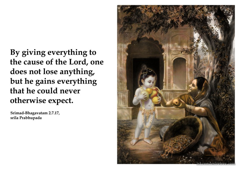 Srila Prabhupada on Giving Everything To The Cause of The Lord