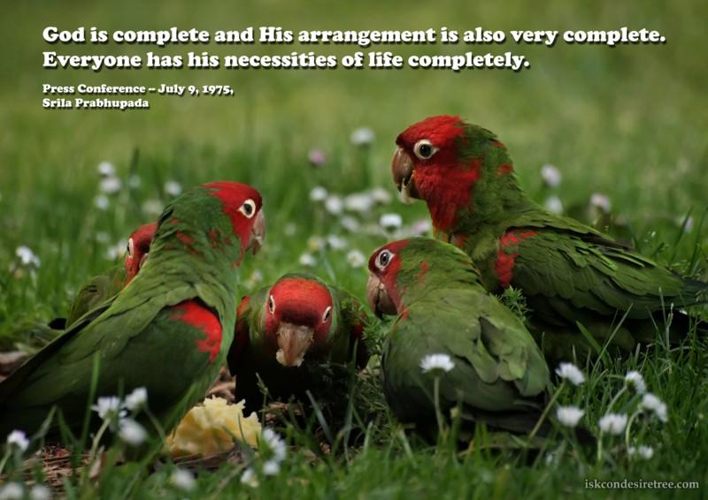 Srila Prabhupada on God Is Complete