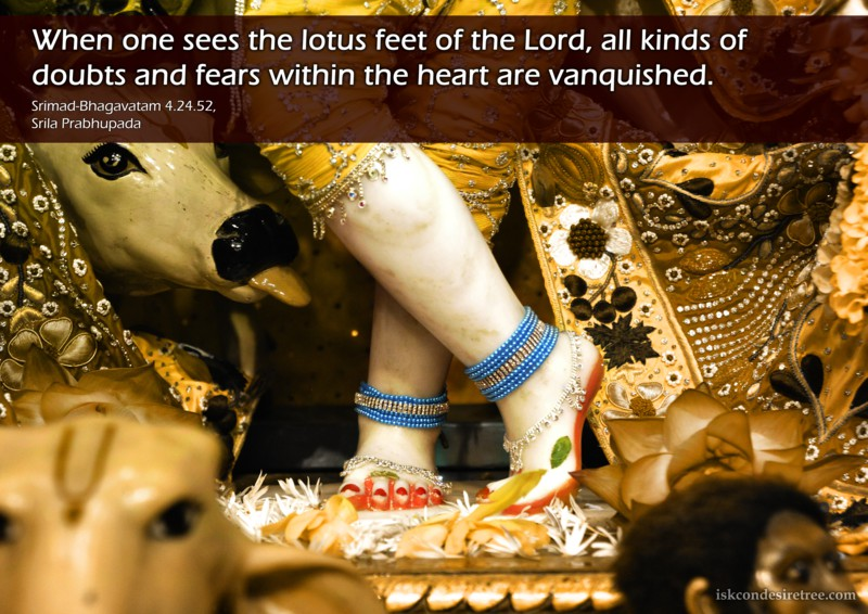 Srila Prabhupada on Lotus Feet of The Lord