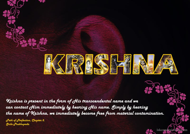 Srila Prabhupada on Name of Krishna