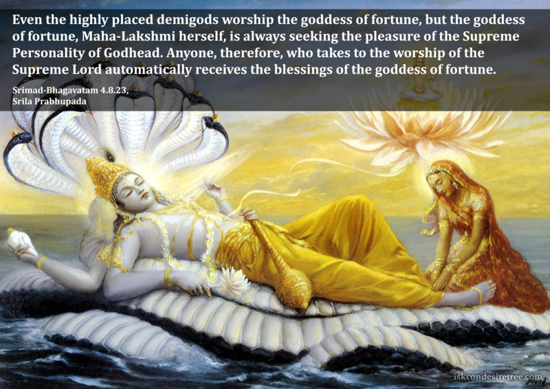 Srila Prabhupada on Receiving The Blessings of The Goddess of Fortune