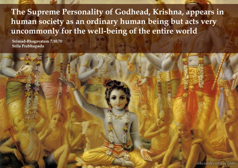 Srila Prabhupada on The Supreme Personality of Godhead, Krishna