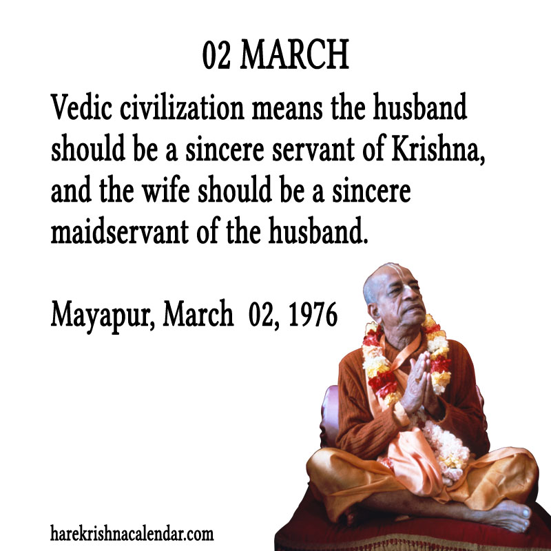 Prabhupada Quotes For The Month of March 02