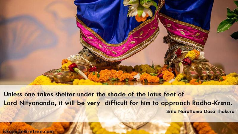 Quote by Srila Narottama Dasa Thakura on Lord Nityananda