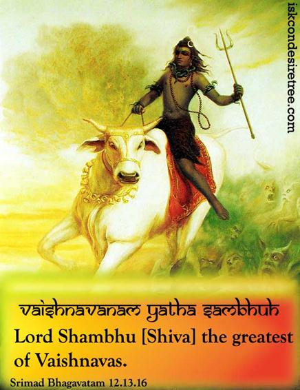 Quote by Srimad Bhagavatam on Greatest Vaishnava