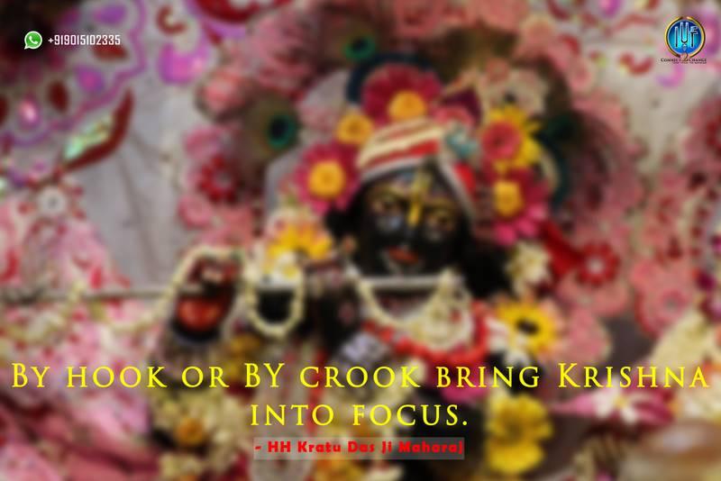 Focus on Krishna
