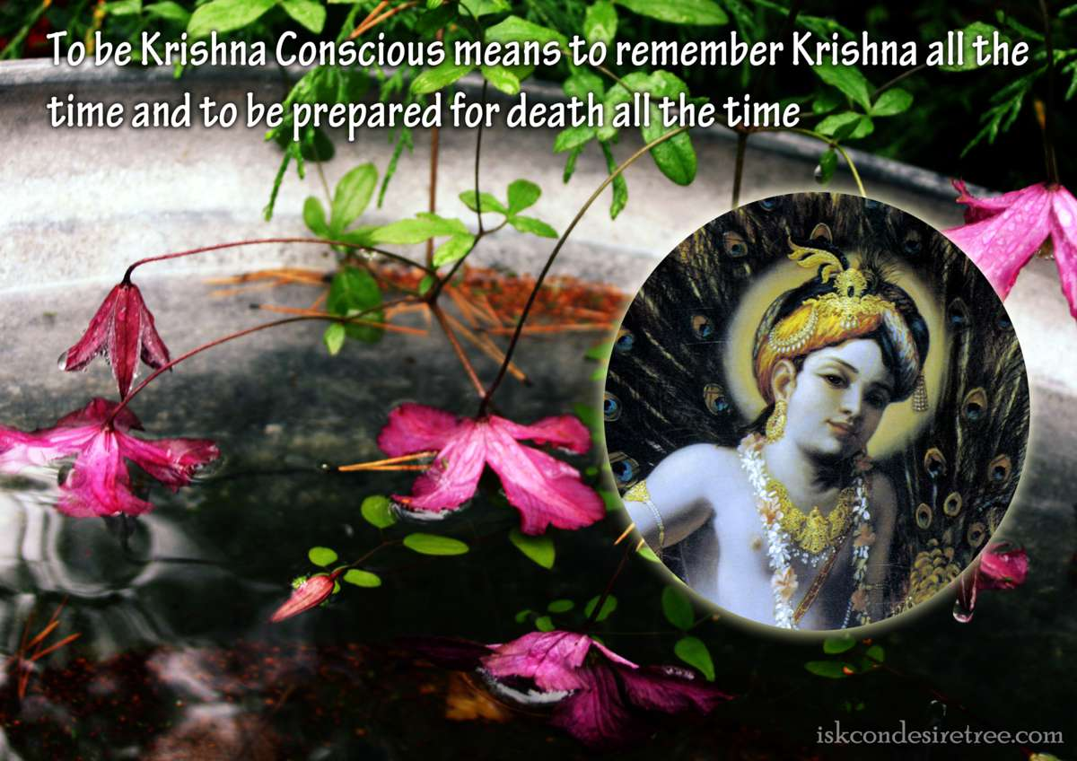 Bhakti Charu Swami on Being Krishna Conscious