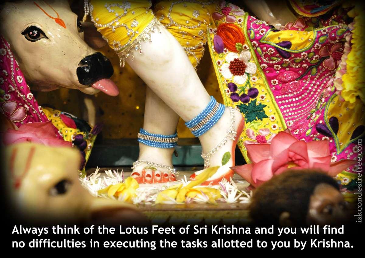 Bhakti Charu Swami on Thinking About The Lotus Feet of Lord Krishna