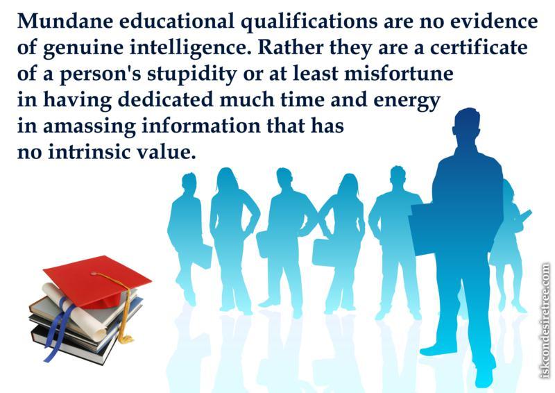 Bhakti Vikas Swami on Mundane Education
